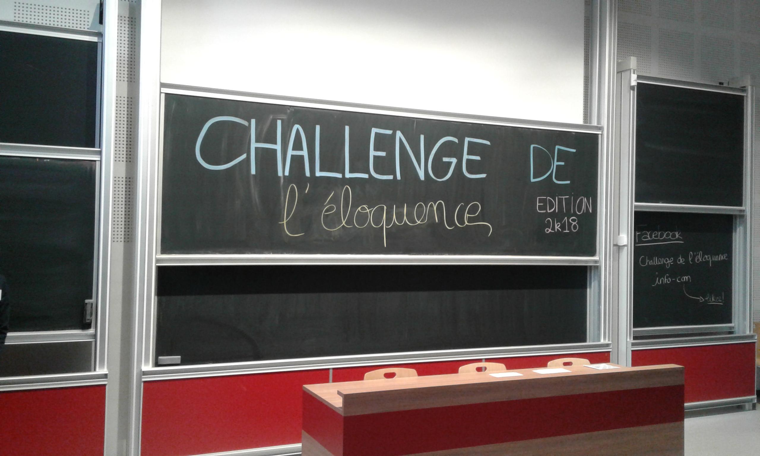 Première édition Du Concours «Challenge De L'éloquence» De L'IUT Info Com